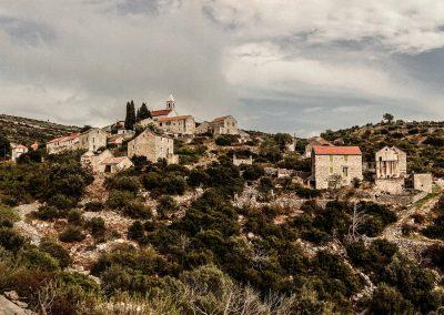 Ein fast verlassenes Dorf in Kroatien