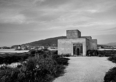 In den Salinen von Trapani auf Sizilien