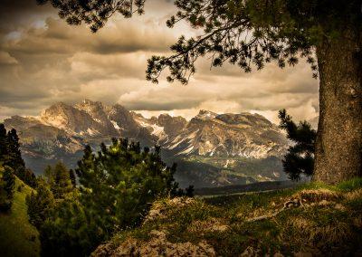 Landschaftsszene in den Südtiroler Bergen