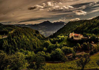 Die Aussicht vom Balkon des Nusserhofes in Hafling in das schöne Südtirol