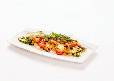Food: Hausgemachte Ravioli mit Pilzen